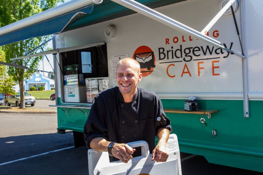 Rolling Bridgeway Cafe's lead chef, Matt Wangler