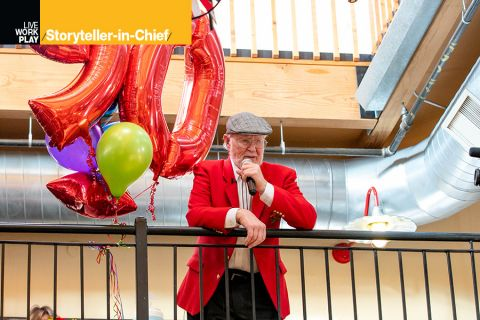 Bob Moore, founder of Bob's Red Mill, at his 90th birthday party