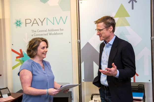 PayNorthwest COO Lori Brown (left) and CEO Mike Anderson (right).